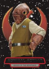 ADMIRAL ACKBAR 2016 Topps Star Wars Force Awakens, Heroes of the Resistance