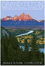Grand Teton National Park - Snake River Overlook Poster Print, 13x19