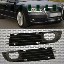 Pair Fit 06-08 AUDI A8 Quattro Front Bumper Fog Light Left + Right Side Grill