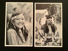 New Listing2 postcards Native Americana Mesquakie Maiden & Dancer Tama Iowa Arts Council A2