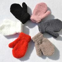 Children Kids Winter Warm Knitted Winter Warm Cute Plush Thick Gloves Mittens