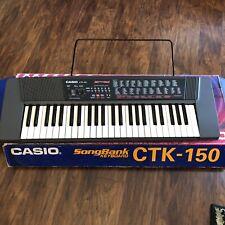 Casio CTK-150 Songbank Electric Keyboard Piano 100 Tones 100 Rhythms 30 Tunes