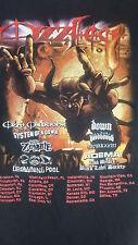 OzzFest 2002 Tour Tshirt System Zombie Adema Black Label Pool POD Down Meshuggah
