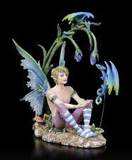 Elfen Figur - Junge Karim mit kleinen Drachen - Amy Brown Fee Engel Drachenelfe