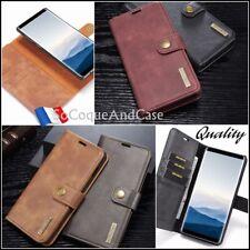 Etui portefeuille coque Cuir Split Leather Wallet Case Samsung Galaxy A51, A71