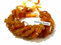 """1 Strand Honey Chalcedony Nugget 7-10mm Faceted Gemstone Beads 10""""Inch Y61"""