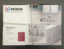 Moen Banbury 2-Handle Deck-Mount Roman Tub Faucet Trim & Valves Chrome 86924 NEW