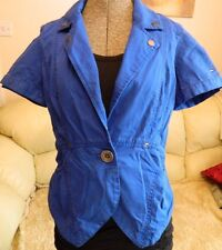TOMMY HILFIGER ZOEY ELECTRIC BLUE SHORT SLEEVE BLAZER STYLE LADIES JACKET SMALL
