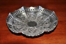 """Stunning sterling silver plated fruit plate, 7 1/2"""" diameter"""