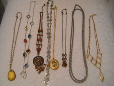 MIXED LOT 8 CHAIN LINK NECKLACES TWO AVON 1 SARAH COV