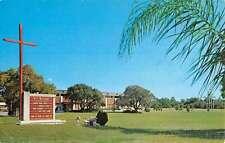 Largo Florida St Jerome Catholic Church Street View Vintage Postcard K55107