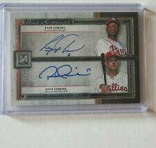 Rhys hoskins And Ryan Howard autograph card 12/15