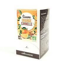 Aromandise Tisane orange cannelle bio en 20 sachets