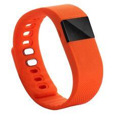 Fitness Tracker Smart Bluetooth Sleep Calorie Counter Pedometer Sport fit Orange