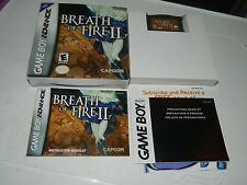 Breath of Fire II (Nintendo Game Boy Advance) 2 GBA **COMPLETE IN BOX**