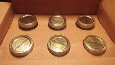 Longaberger 1 Qt. Quart Blue Ribbon Canning Jars Set Of 6 New in Box
