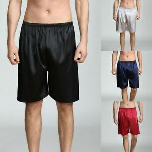 Sommer Seide Satin Schlafbekleidung Unterwäsche Boxer Beach Shorts Schlafanzüge`