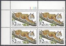 $2 Bobcat (2482) Plt Blk Face $8 Fs