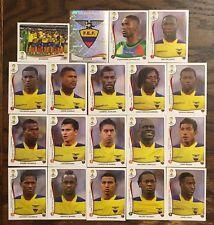 ECUADOR COMPLETE TEAM, 19 PANINI STICKERS, WORLD CUP BRAZIL 2014 #BRA15