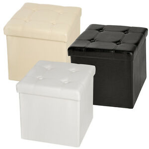 Faltbarer Sitzhocker Sitzwürfel Würfel Aufbewahrungsbox Möbel 38x38x38 cm