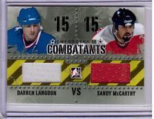 DANNY LANGDON SANDY McCARTHY 13/14 ITG Enforcers 2 II Combatants Jersey #C-10