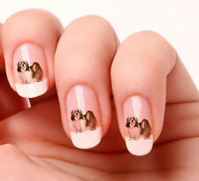 20 Adesivi Unghie Nail Art Decalcomanie #627 - lhasa apso Just peeling & stick