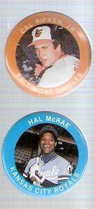 1984 Fun Foods MLBPA 1.125-Inch Pinback Button - Hal McRae Kansas City Royals