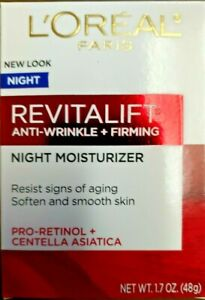Loreal Revitalift Anti-Wrinkle + Firming Night Moisturizer 1.7 Oz