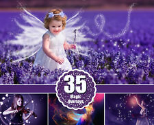 35 magic light photo overlays, magic lights, photoshop overlay, PNG file