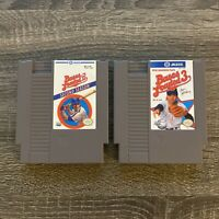 Bases Loaded 2 & 3 Game Lot Nintendo NES Original Authentic Baseball Video Game