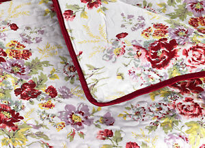 English Floral Boutique Bedspread/Throw/Blanket *Beautiful Rose & Flower Design*