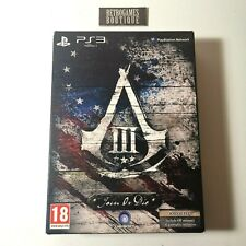 ASSASSIN'S CREED III Join or Die Limited Edition PS3 Playstation 3 PAL ITA