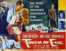 Touch Of Evil Movie Poster Charlton Heston Vintage 4