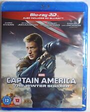 CAPTAIN AMERICA: THE WINTER SOLDIER New 3D BLU-RAY (and 2D) 2-Disc Set Marvel