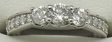 SOLID 10CT WHITE GOLD NATURAL DIAMOND ENGAGEMENT/DRESS RING - VALUED AT $4095.00