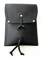 MINT! Genuine Saddleback Leather POUCH W/O STRAP Black w/ Smooth Pigskin Lining