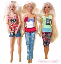 New barbie doll clothes clothing sets 3 outfits summer outfits pants shorts tops