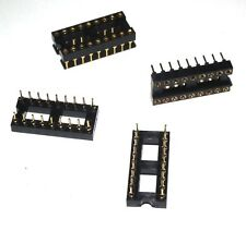 4 PCS 18 PIN GOLD DIP IC BASE CRADLE SOCKET PANEL ADAPTER SWAPPING SOLDERLESS