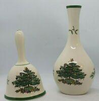 Spode England Christmas Tree Bud Vase & Bell