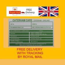 CATERHAM KIT CAR CHASSIS ENGINE REPLACEMENT OIL SERIES @ VIN-PLATE-ESSENTIALS GN