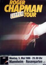 CHAPMAN, ROGER - 1986 - Konzertplakat - Zipper - Tourposter - Mannheim
