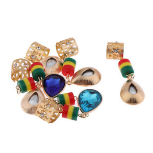 6 Pieces  Beads,Cuffs,Clips for Braids,Hair Extensions,Diy Crafts