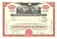 [B67898] 1966 STOCK CERTIFICATE 100 shares PAN AMERICAN WORLD AIRWAYS -CANCELLED