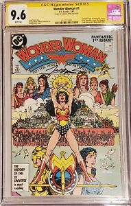 Wonder Woman #1  CGC 9.6 SS Signed by George Perez 1987