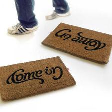 Suck UK Doormat Come In Go Away Ambigram Reversible Upside Down Door Mat Coconut