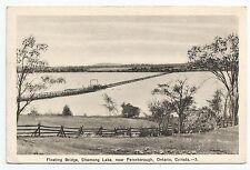 POSTCARD-CANADA-ONTARIO-PETERBOROUGH-PTD. The Floating Bridge, Chemong Lake.
