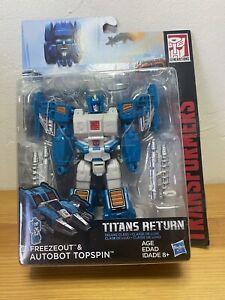 Transformers Titans Return Topspin New MIB Autobot