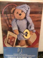 "Indygo Junction Pattern IJ401 PJ 28"" Shaggy Plush Bear 1996 Designer Amy Martin"