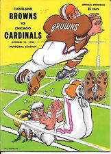 OCT 12, 1958 CLEVELAND BROWNS vs CHICAGO CARDINALS VINTAGE FOOTBALL PROGRAM