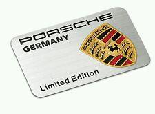 3D Laxury Porsche Limited Aluminium Body Fender Emblem Decal Badge Sticker Logo